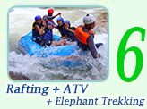 Rafting + ATV + Elephant Trekkingi