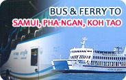 Bus and Ferry to Samui, Pha-Ngan, Koh Tao