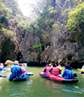 Canoeing and discovery at Thamtalu Cave : JC Tour Phuket