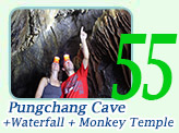 Pungchang Cave and Manohra Waterfall and Monkey Cave Temple