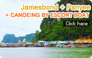 Jamesbond and Panyee Island Canoeing by Escort Boat