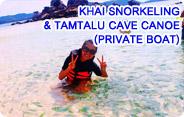 Khai Snorkeling and Tamtalu Cave Canoe