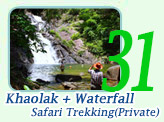 Khao-Lak Mountain + Waterfall + Safari Trekking