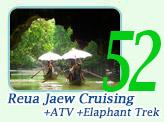 Reua Jaew Cruising + Safari ATV + Elephant Trekking