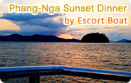 Phang-Nga Sunset Dinner by Escort Boat