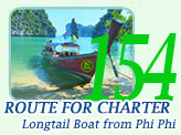 Route for Charter Longtail Boat from PP