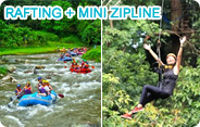 White Water Rafting and Mini Zipline