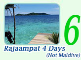 Rajaampat 4 days 3 Nights. (Not Maldive)