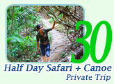 Half Day Safari and Canoeing