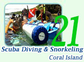 Scuba Diving & Snorkeling at Coral Island