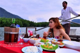 Romance Dinner on the Boat: Phang Nga Bay + Samet Nang Shee View Point at Night